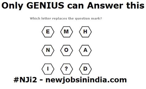 only genius can answer this try it nji2 question