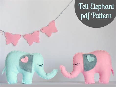 pattern for felt elephant felt elephant pdf by ria crawford sewing pattern