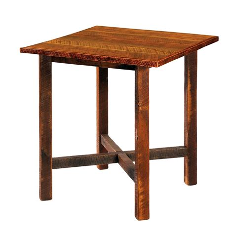 reclaimed wood pub table barnwood barstools cabin place