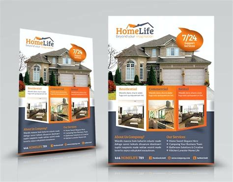 company brochure template free download real estate flyer template
