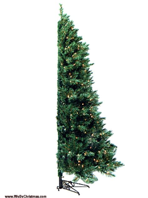 corner christmas tree 7 5 ft unlit westbrook corner tree