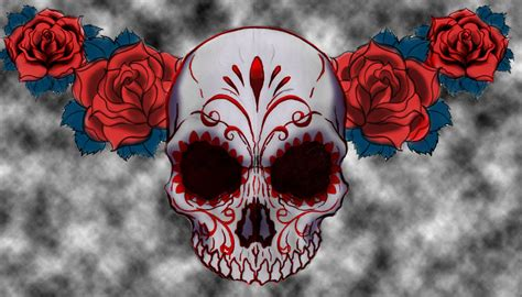 sugar design skull tattoosugar design skull tattoo