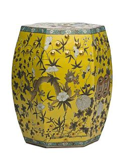 yellow garden stool the auction addict all this and i need a splash of