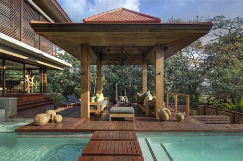 veranda wood exquisite contemporary home in zimbali south africa
