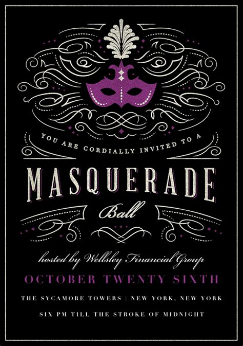 masquerade invitations templates masquerade invitations in purple masquerade