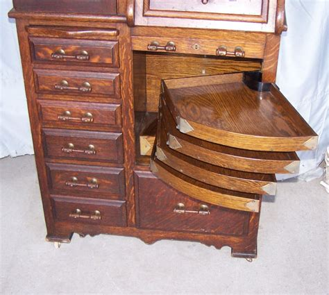 Bargain John's Antiques   Antique Oak Dental Storage