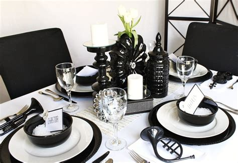 decorations for black and white themed ideas for a black white celebrations at home