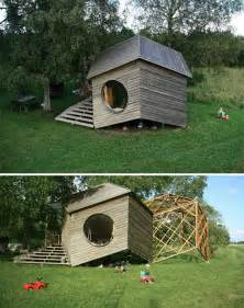 Unique Small Home Builders Polyhedral 231 Sq Ft Prefab Cabin Expands Spatial