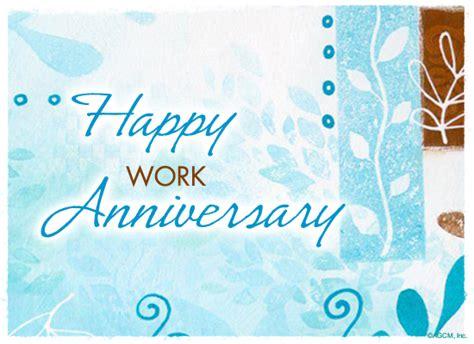 Printable Work Anniversary Greeting Cards   happy work anniversary anniversary ecard american