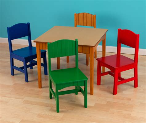 kidkraft nantucket table and chairs set primary colors kidkraft nantucket primary table and chair set 26121