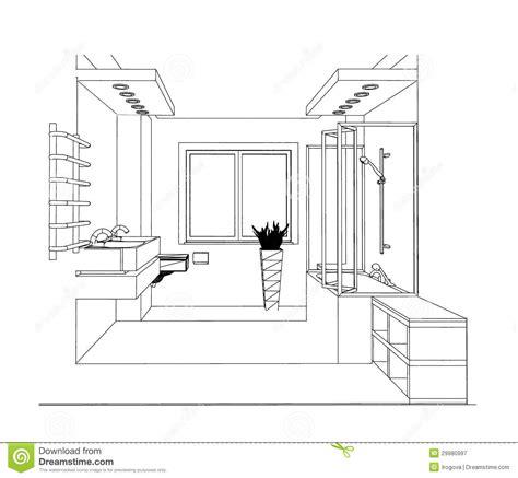 bathroom sketch sketch bathroom royalty free stock photography image