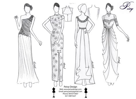 sketsa design gaun malam gambar sketsa desain gaun desain busana pengantin untuk