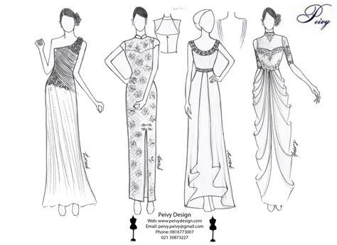 sketsa desain dress remaja gambar sketsa desain gaun