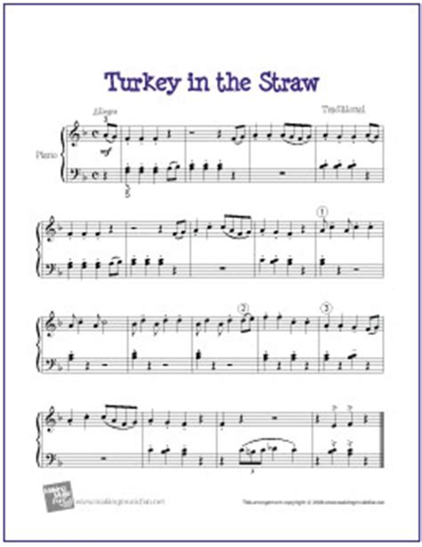 free printable sheet music turkey in the straw turkey in the straw free easy piano sheet music