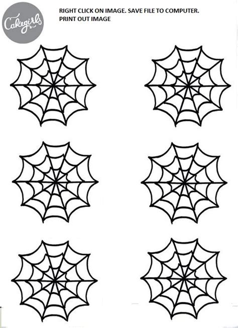 Spooky Spider Web Cupcake How To Cakegirls Spider Web Template