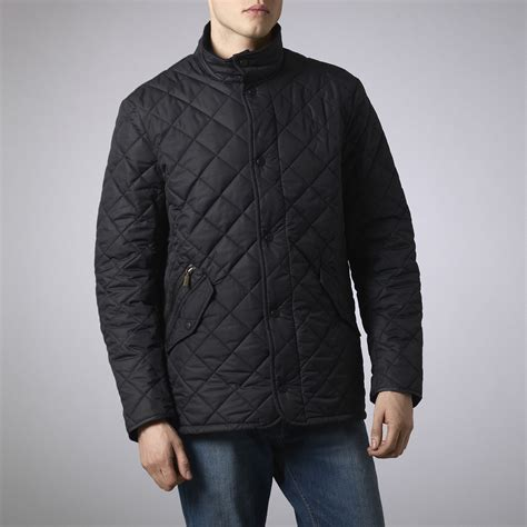 barbour quilted chelsea jacket in blue for navy lyst
