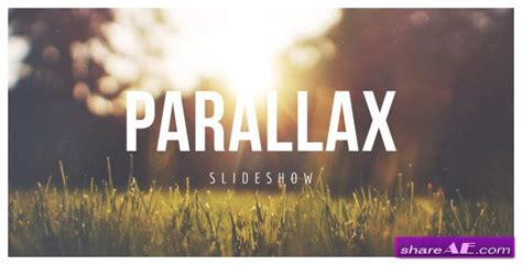 parallax scrolling slideshow after effects project
