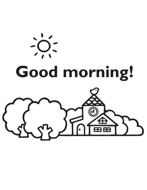 coloring pages morning morning coloring page h m coloring pages