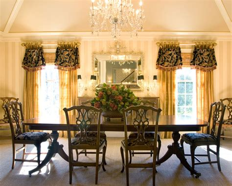 Window treatments for a formal dining room modern interior design