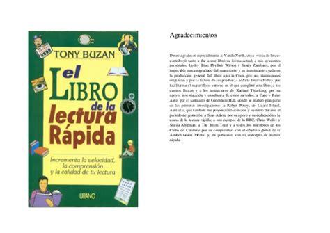 libro via rapida libro buzan tony el libro de la lectura r 225 pida son estrategias de lectur
