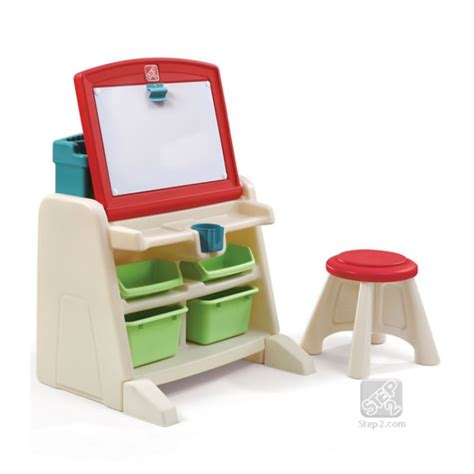flip and doodle easel desk step2 flip doodle easel desk with stool lime