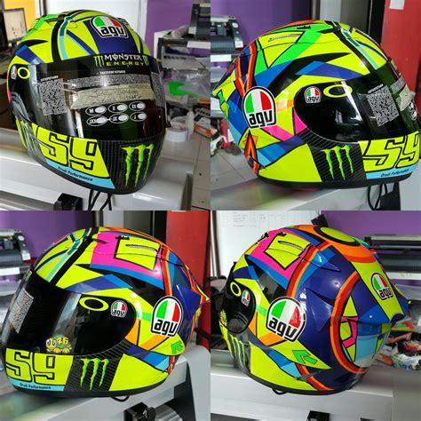 Helm Kyt Rc7 Motif pengecatan helm kyt rc7 motif 2016 dengan custom nomer ronita digital printing