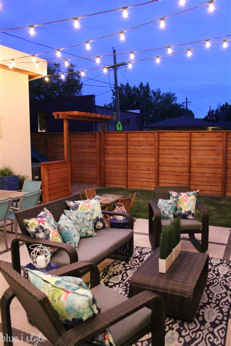 backyard string lights outdoor style how to hang commercial grade string lights