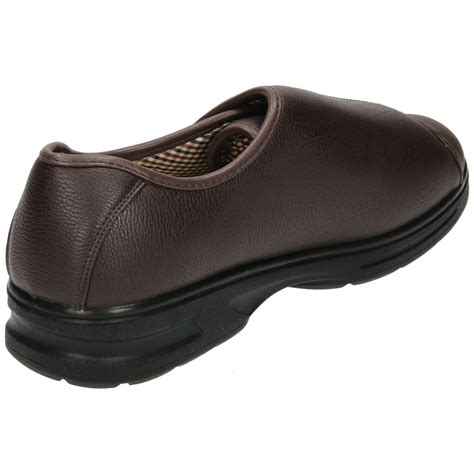 mens slippers wide fit dr keller mens velcro wide fit lightweight shoes
