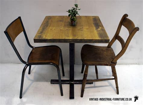 bistro bench vintage industrial bistro table