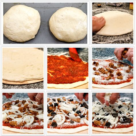 easy steps to make pizza food images kfoods com