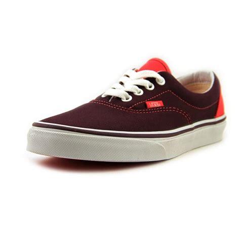 burgundy sneakers mens vans vans era canvas burgundy athletic sneakers shoes