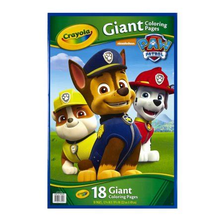 crayola giant coloring pages nickelodeon paw patrol