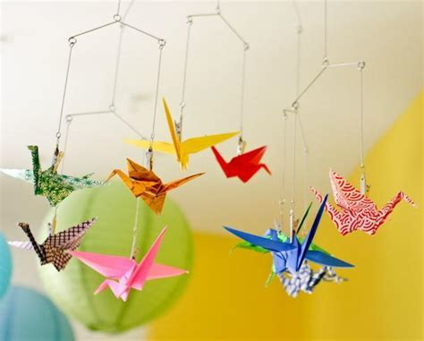 Easy Origami Paper Crane DIY Mobile   AllFreePaperCrafts.com