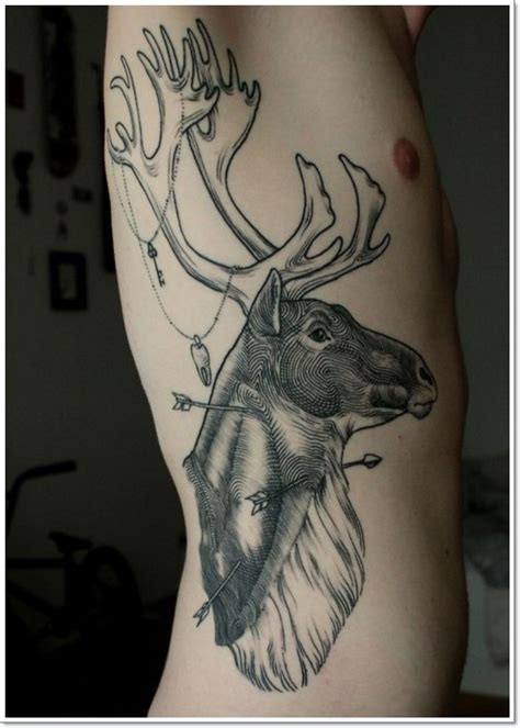 wildlife tattoos for men deer tattoos pictures to pin on tattooskid