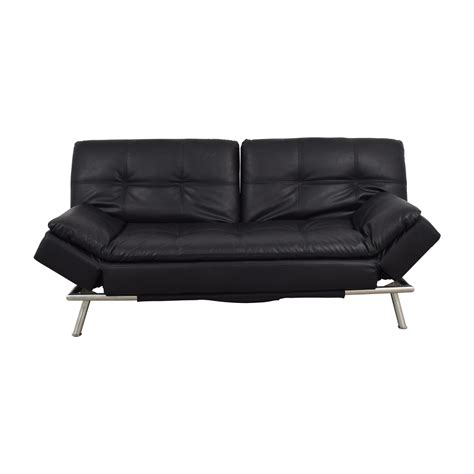 black leather chesterfield sofa 81 off black leather chesterfield futon sofas