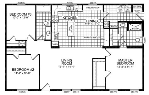 28x48 floor plans titan pinnacle 598 28x48 3 bedroom 2 bath pine view