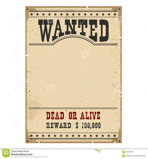 design wanted poster wanted poster western vintage paper on wood wall for