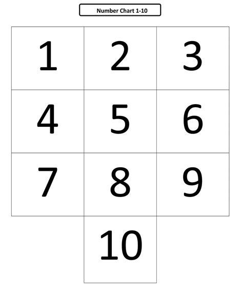 printable numbers 1 10 for preschoolers numbers 1 10 preschool printables learning printable