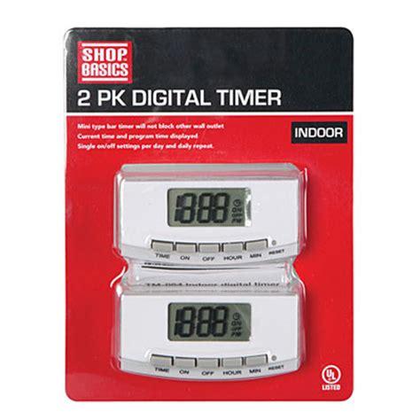digital parking lot light timer shop basics indoor digital timer 2 pack big lots