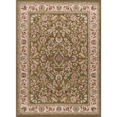 6 X 12 Area Rug Tayse Rugs Laguna Green 9 Ft 3 In X 12 Ft 6 In Indoor Area Rug 5075 Green 9x13 The Home Depot