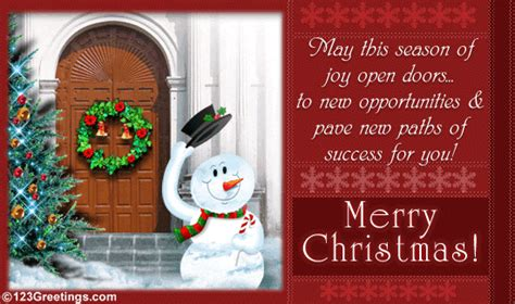 wishing  success  business  ecards greeting cards