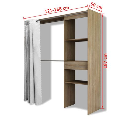 armadio tenda articoli per vidaxl armadio con tenda larghezza regolabile