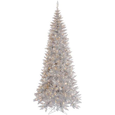 6 12 x 34 tinsel slim christmas tree with 400 clear lights vickerman 9 silver tinsel fir artificial tree with 700 clear lights walmart