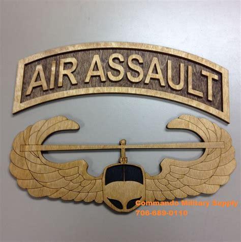 custom designed wooden air assault plaque  designs