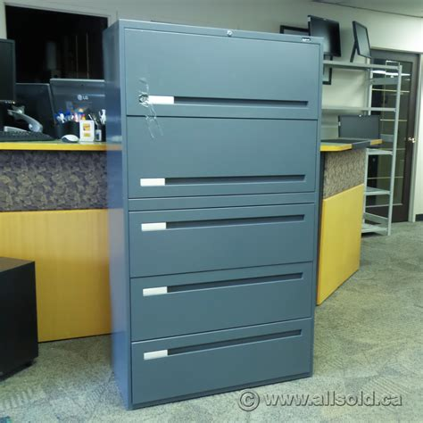 boulevard 5 drawer lateral file cabinet grey allsold ca