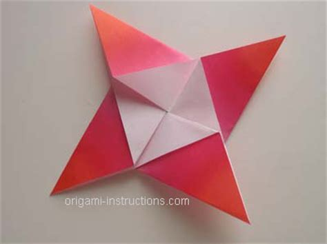 Origami 4 Point - origami 4 pointed folding how to fold