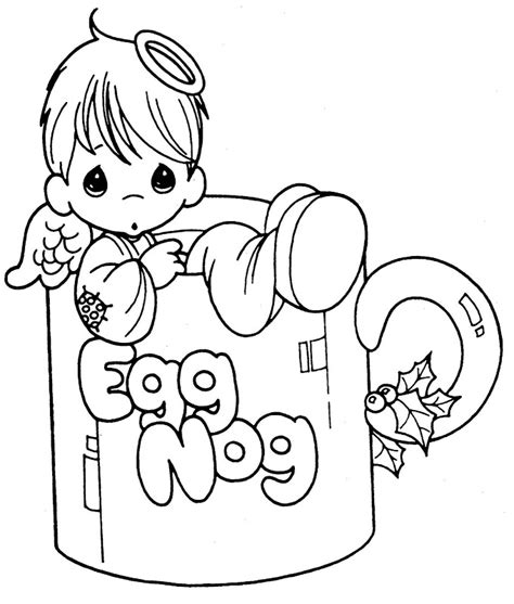 little angels coloring pages little angel in a cup free precious moments coloring