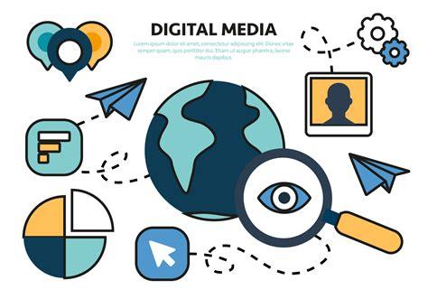 free flat digital marketing concept vector download free