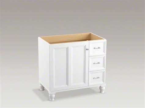 kohler damask tm 36 quot vanity with furniture legs 1 door