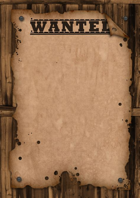 Wanted Template By Maxemilliam On Deviantart Free Wanted Poster Template